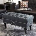 Baxton Studio Hildebrand Linen Modern Tufted Bench