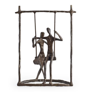 Couple on a Swing Bronze Sculpture