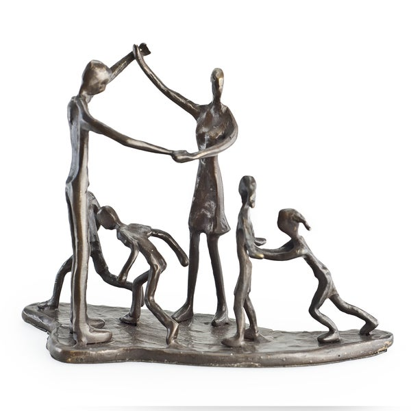 Children & Parents at Play Bronze Sculpture