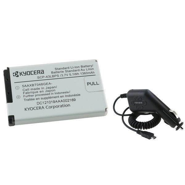 INSTEN Kyocera DuraMax/ DuraCore/ DuraXT/ DuraPro Battery/ Car Charger