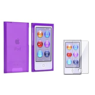 BasAcc Clear Purple Slim Case/ Screen Protector for Apple iPod nano 7