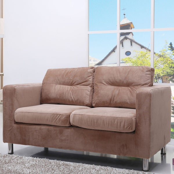 Detroit Butterscotch Fabric Loveseat