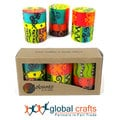 Hand Painted Candles - Three in Box - Matuko Design (South Africa)