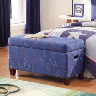 Deluxe Blue Storage Bench