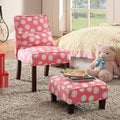 Juvenile Slipper Chair and Ottoman Set