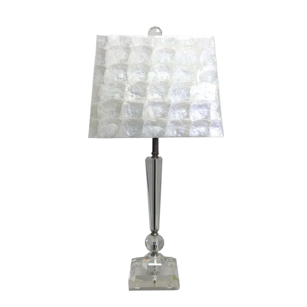 mother of pearl shade crystal table lamp 15780908. Black Bedroom Furniture Sets. Home Design Ideas