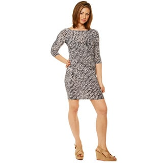 24/7 Comfort Apparel Women's Long Sleeve Knee Length Dress