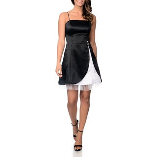 Betsy & Adam Women's Black/ White Party Dress