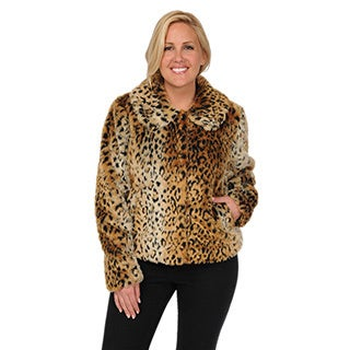 Excelled Plus Women's Animal Print Jacket