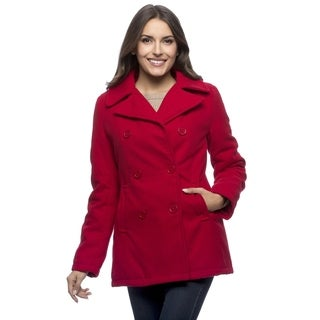 Excelled Women's Double Breasted PeaCoat