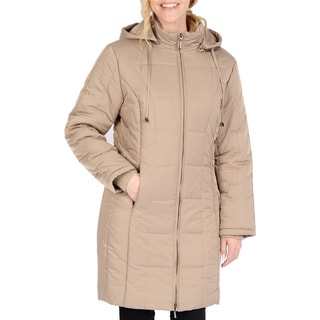Excelled Women's Black Stitch Puffer Jacket