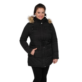 Excelled Women's Hooded Puffer Coat