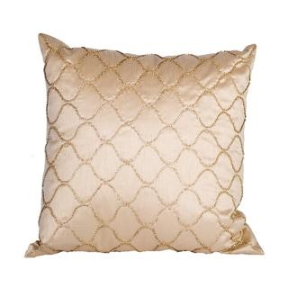 Silk Tan Diamond Bling Rhinestone Down Pillow