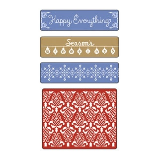 Sizzix Textured Impressions Holiday Damask Set Embossing Folders (4 Pack)
