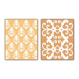 Sizzix Textured Impressions Luxurious Set Embossing Folders (2 Pack)