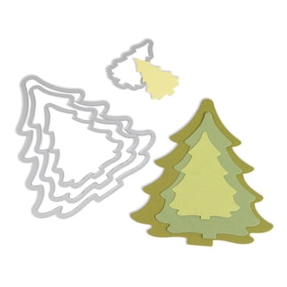 Sizzix Framelits Trees/ Christmas Die Set (4 Pack)