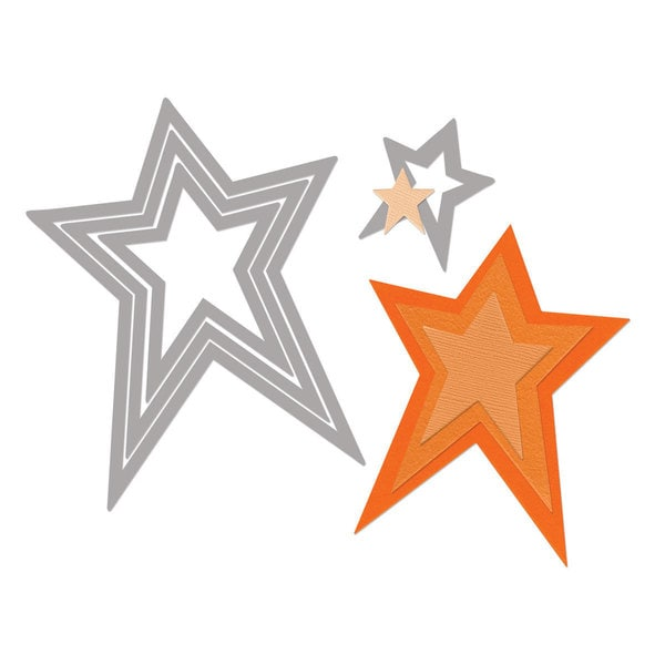 Sizzix Framelits Stars/ Primitive Die Set