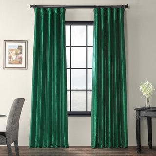 Emerald Green Faux Silk Taffeta Curtain Panel
