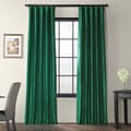 Emerald Green Faux Silk Taffeta Curtain Panel