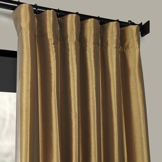 EFF Gold Nugget Faux Silk Taffeta Curtain Panel