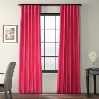 EFF Fuchsia Rose Faux Silk Taffeta Curtain Panel