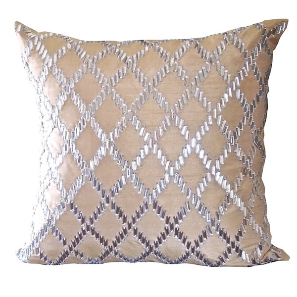 Champagne Crystal Diamond Down Pillow