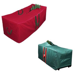 Red 58-inch Christmas Tree Storage Bag with Wheels