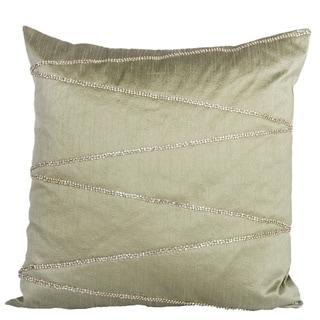 Silk Wave Bling Rhinestone Down Pillow