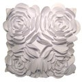 White Rose Petals Down Pillow