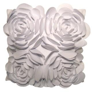 White Rose Petals Down Pillow