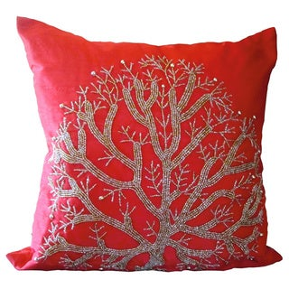 Wild Tree Red Down Fill Pillow