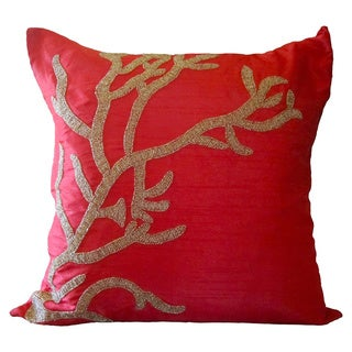 Red Reef Down Fill Square Pillow