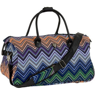 CalPak 'Hampton' Orange Chevron 20-inch Duffel