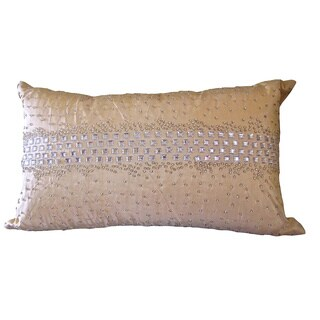 Crystal Diamond Champage Down Rectangle Pillow