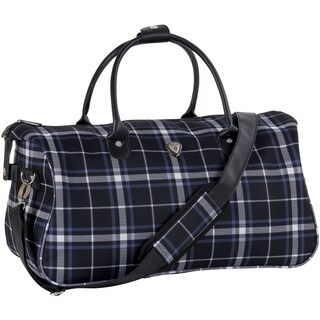 CalPak 'Hampton' Black Plaid 20-inch Duffel