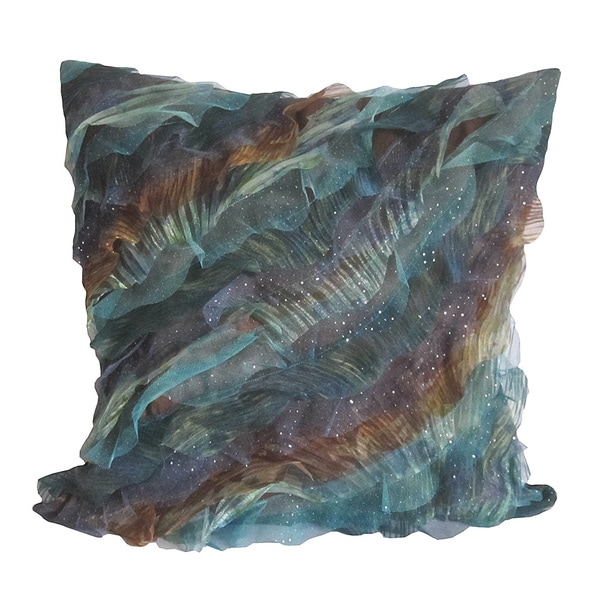 Blue/ Brown Breezy Wave Down Pillow
