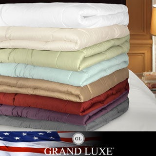 Grand Luxe 500 Thread Count Egyptian Cotton Down Alternative Comforter