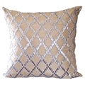Gold Crystal Diamond Down Square Pillow