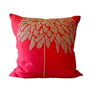 Red Coral Tree Feather Filled Pillow