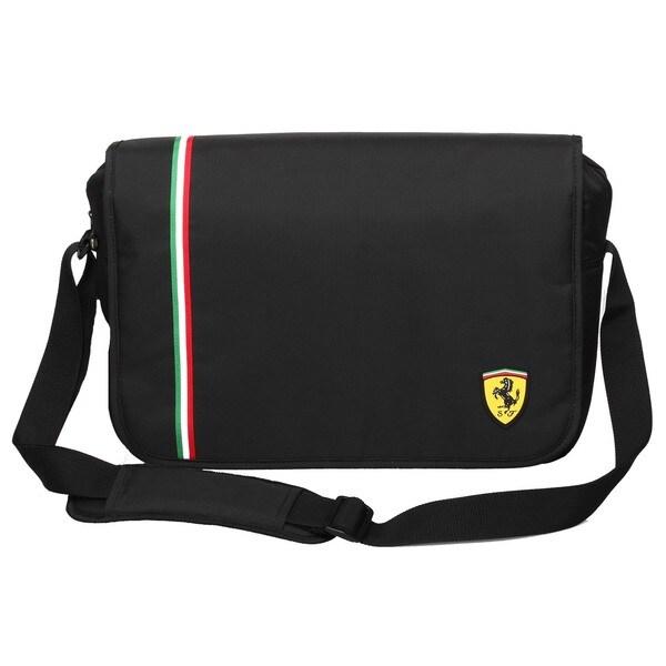 Ferrari Black Messenger Bag (Active Collection)