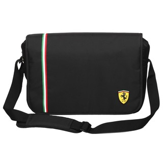 Ferrari Black Messenger Bag (Active Collection)