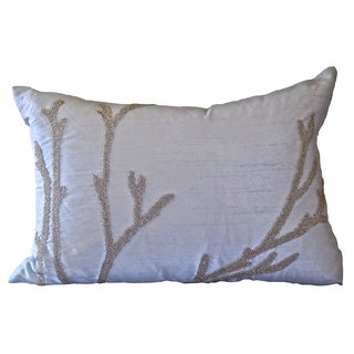 Soft Blue Reef Down Pillow
