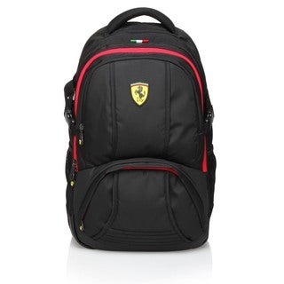 Ferrari Black Travel Backpack (Active Collection)