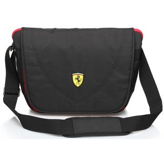 Ferrari Travelers Black Messenger Bag
