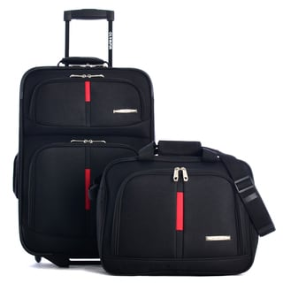 Olympia Manchester 2-piece Black Carry-on Luggage Set