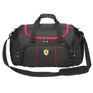 Ferrari Black Overnight Bag