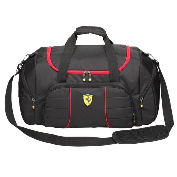 Ferrari Black Overnight Bag