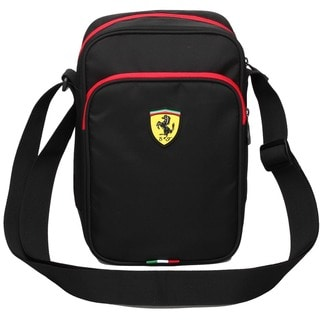 Ferrari Travelers Black Shoulder Bag