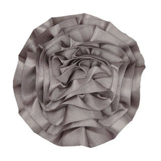 Satin Ruffle Flower Hair Clip