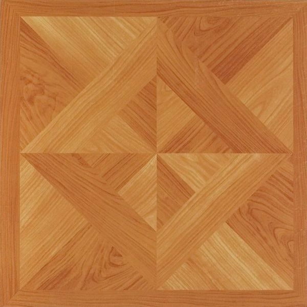 12x12 Light Oak Diamond Parquet Self Adhesive Vinyl Floor Tiles (Pack of 20)